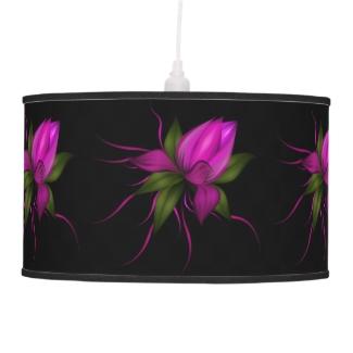 Fuchsia Floral on Black