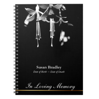 Fuchsia Floral Photography Memorial Guest Book 1