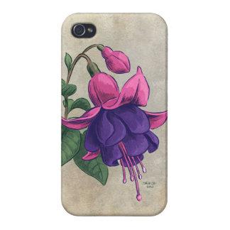 Fuchsia Flower Artwork iPhone 4/4S Case