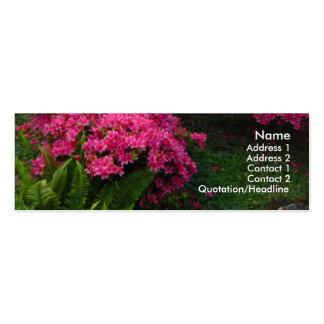 Fuchsia flower garden profile card mini business card