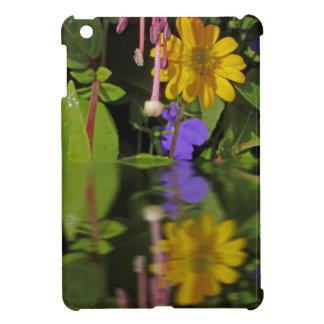 Fuchsia  flower in reflection iPad mini cover