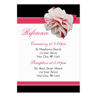 Fuchsia Flower Pink & Black Guest Reference Cards