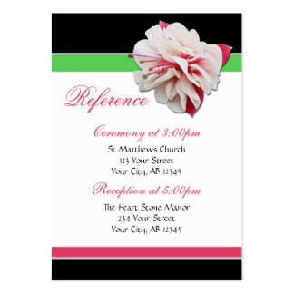 Fuchsia Flower Pink & Green Guest Reference Cards