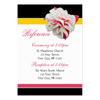Fuchsia Flower Pink & Yellow Guest Reference Cards