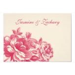 "Fuchsia Flowers Fall Wedding Invitations 5"" X 7"" Invitation Card"