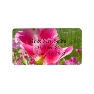 Fuchsia Flowers Personalized Address Labels