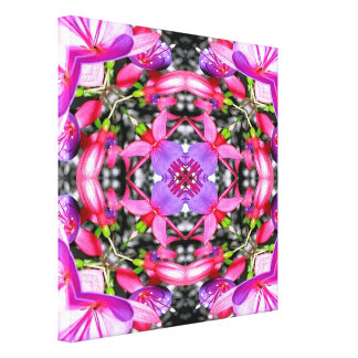"Fuchsia flowers ""warp"" wrapped canvas print"
