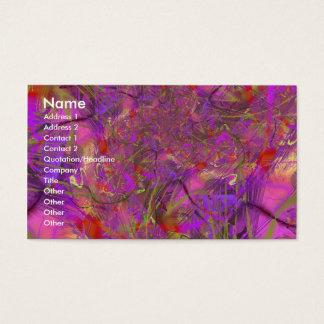 Fuchsia Fractal Art Business Card
