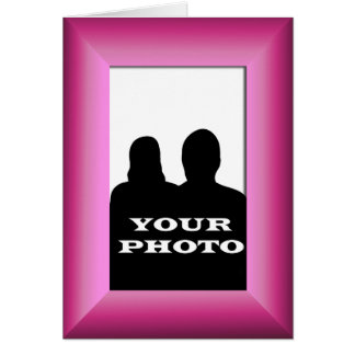 Fuchsia Frame Your Photo 5x7 Vertical Greeting 2 Cards