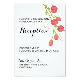Fuchsia Garden Roses - Reception Card