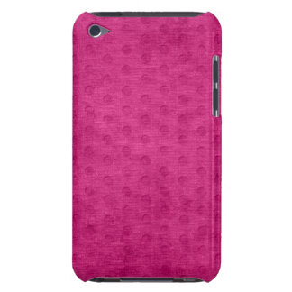 Fuchsia Geometric  Chenille Texture iPod Touch Covers