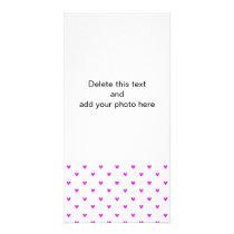 Fuchsia Glitter Hearts Pattern Card