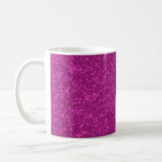 Fuchsia Glitter Look Hot Pink Sparkle Print Classic White Coffee Mug