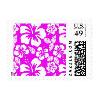 Fuchsia Hawaiian Tropical Hibiscus Stamp