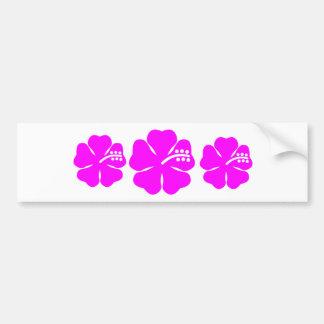Fuchsia hibiscus flower bumper stickers