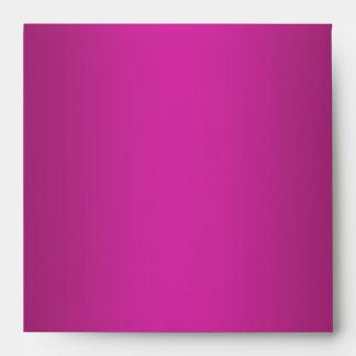 Fuchsia Hot Pink Linen Envelopes