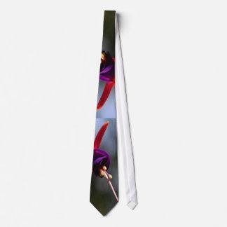 Fuchsia Hummingbird Flower Tie
