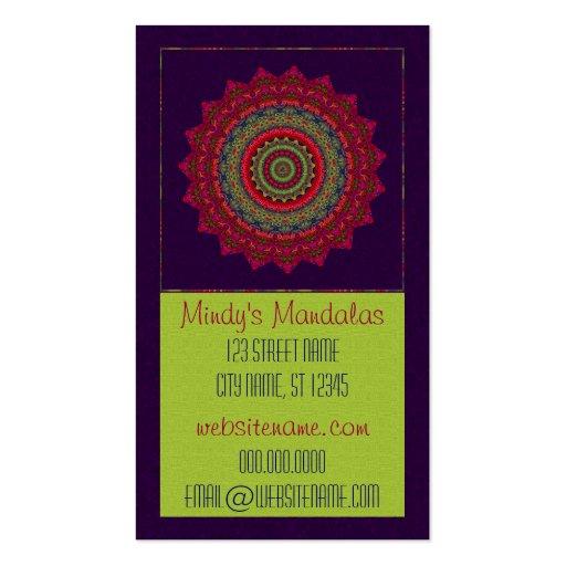 Fuchsia Kaleidoscope Mandala Business Card