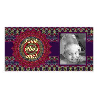 Fuchsia Kaleidoscope Mandala Card