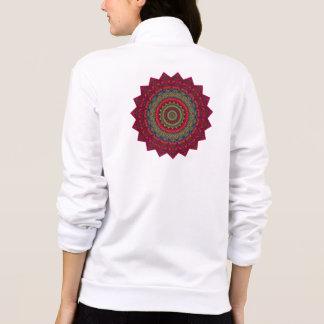 Fuchsia Kaleidoscope Mandala Printed Jackets