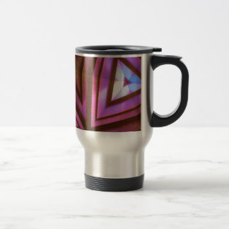 Fuchsia kaleidoscope travel mug