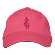 Fuchsia Kokopelli Pink Embroidered Baseball Cap