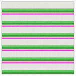 [ Thumbnail: Fuchsia, Light Pink, Green, Lime Green, and White Fabric ]