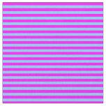 [ Thumbnail: Fuchsia & Light Sky Blue Colored Pattern Fabric ]