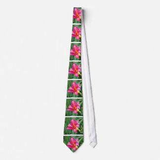 Fuchsia lily beautiful pink purple flower photo neck tie