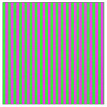 [ Thumbnail: Fuchsia & Lime Lines Pattern Fabric ]