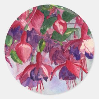 Fuchsia Lore Round Sticker