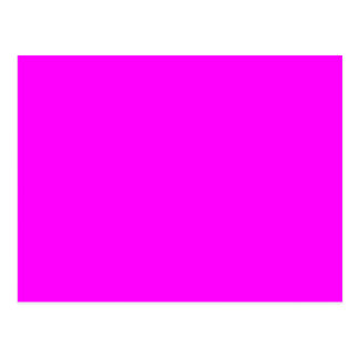 Fuchsia Magenta Pink Solid Trend Color Background Postcard