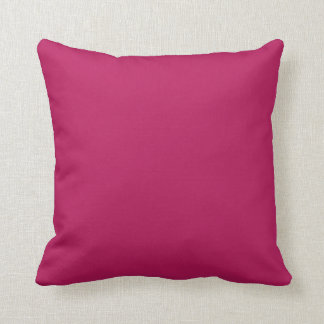 Fuchsia Magenta Pink Solid Trend Color Background Throw Pillows