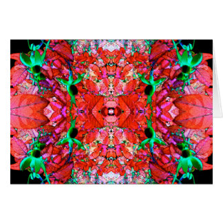 Fuchsia Mandala Greeting Card