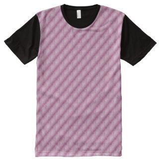 Fuchsia Marble Diagonal All-Over Print T-shirt