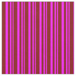 [ Thumbnail: Fuchsia & Maroon Colored Pattern of Stripes Fabric ]