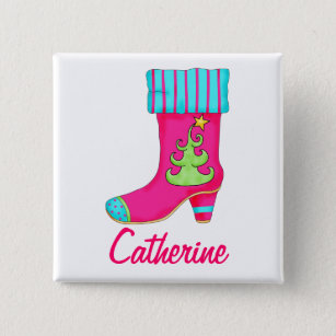 stocking christmas buttons pins decorative button pins zazzle
