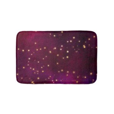 Beach Themed Fuchsia Night Sky Bathroom Mat