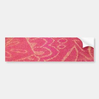 fuchsia old lamp shade fabric flower lines bumper sticker