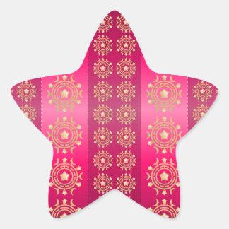 Fuchsia Oriental Mandala Pattern Sticker