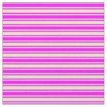 [ Thumbnail: Fuchsia & Pale Goldenrod Lines/Stripes Pattern Fabric ]