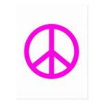 Fuchsia Peace Sign Postcard