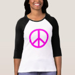 Fuchsia Peace Sign T-Shirt