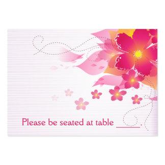 Fuchsia & Peach Flourish Escort Card Large Business Cards (Pack Of 100)