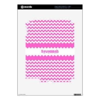 Fuchsia Personalized iPad Skin You Choose Color