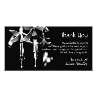 Fuchsia Personalized Sympathy Thank You Photo card