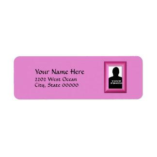 Fuchsia Photo Frame Template Return Address Return Address Label