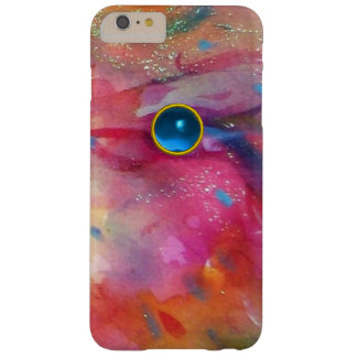 FUCHSIA PINK ABSTRACT Blue Sapphire Gemstone Barely There iPhone 6 Plus Case