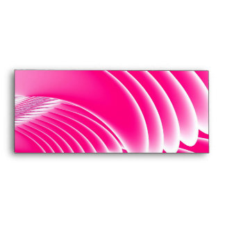 Fuchsia Pink Angel's Wings Fractal Envelope