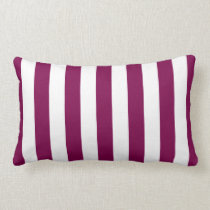 Fuchsia Pink Cabana Stripes Lumbar Pillow